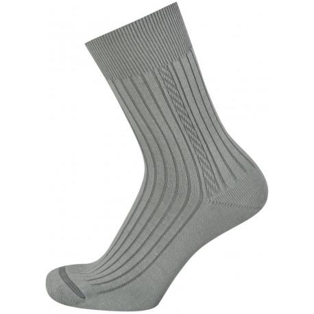 Světle šedá - KAREL ALOE VERA AB | Komfort - Antibakteriální ponožky s výtažky z rostliny Aloe Vera obsahují funkční úpravy vyvinuté na bázinano částic stříbra a přírodních extraktů. Ponožky jsou s jemným žebrem alemem, přesto nesvírají a dobře drží na nohou.