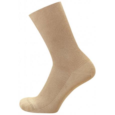 Světle béžová - NELA ALOE VERA AB | Medic - Antibakteriální zdravotní ponožky s výtažky z rostliny Aloe Vera obsahují funkční úpravy vyvinuté na bázi nano částic stříbra a přírodních extraktů. Ponožky jsou s jemným žebrem a bez vrchního lemu, nesvírají, zároveň dobře drží na nohou.