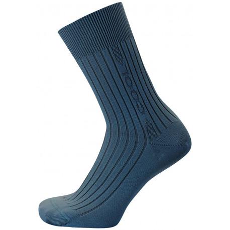 Džínově modrá - KAREL COOL AB | Komfort - Antibakteriální ponožky s chladivou úpravou Cool efekt obsahují funkční úpravy vyvinuté na bázinano částic stříbra apřírodních extraktů. Ponožky jsou s jemným žebrem alemem, přesto nesvírají a dobře drží na nohou.Výborně se hodí do sportovních bot na běh, tenis i fitness.