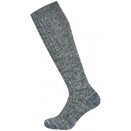 Šedý melír - FALIN | Economic - Silné žebrové vlněné podkolenky, vyrobené s nesvíravým lemem, jsou vhodné na běžné nošení, ale i do holínek a těžkých bot. Podkolenky jsou jemně melírované v tmavším a světlejším odstínu.