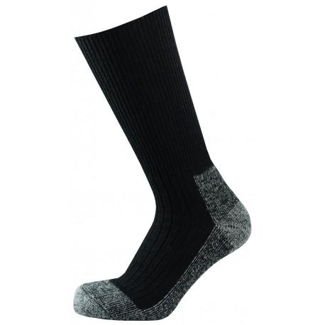 Černá - ANTIBAKTERIÁLNÍ KLASIK TERMO | Outdoor - Teplé vlněné outdoorové termo ponožky s antibakteriální úpravou, která obsahuje nano částice stříbra.Zesílené froté zóny v chodidle pro vysoký termoizolační efekt. Ponožky jsou speciálně vyvinuté pro menší fyzickou zátěž ado méně náročných podmínek do vysoké obuvi, outdoorových bot i holin.