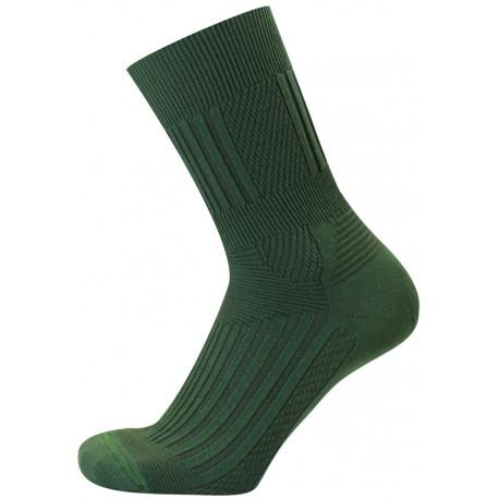 Světle zelená - COOL ANTIBAKTERIÁLNÍ ZÓNOVÉ | Outdoor - Chladivé ponožky s antibakteriální úpravou. Funkční úpravy na bázi nano částic stříbra a rostlinných esencí eliminují pocení a riziko vzniku nepříjemných mykóz. Anatomický zónový design. Odvod vlhkosti od pokožky.