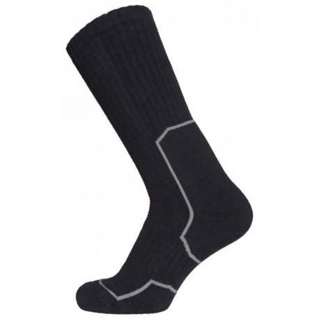 Černá - ANTIBAKTERIÁLNÍ EXTRÉMNÍ ZÁTĚŽ | Outdoor - Antibakteriální ponožky s nano stříbrem. Náš nejprodávanější model outdoorových ponožek. Díky použitým materiálům a anatomickému designu přinášejí vysoký komfort i při náročných výpravách do přírody. Vhodné do trekkingové obuvi, goretexových bot i holin. Výrobek je vhodný pro celoroční užití.