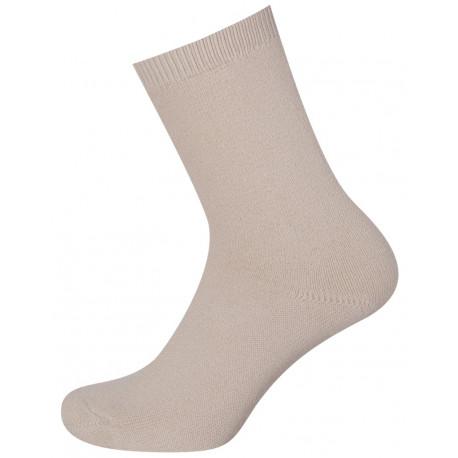 Světlá béžová - Ponožky dámské froté - Dámské hladké bavlněné ponožky s vnitřním froté. Ponožky nohy zahřejí a jsou při nošení příjemně měkké. Lem jepevný a špice plochá. Díky kombinaci bavlny a polypropylenu je pot snadno odváděn do vnějších vrstev ponožky. Vyrábějí se v barvách - bílá, světlá béžová, světlá šedá, střední šedá, tmavá šedá, tmavá modrá, černá.