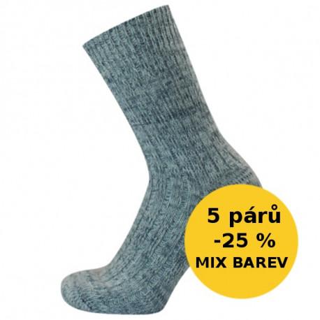 NORA - VÝHODNÉ BALENÍ 5 PÁRŮ - PRO RELAXACI - VÝHODNÉ BALENÍ 5 PÁRŮ | Komfort - Výhodné balení 5 párů relaxačních ponožek se slevou 25 %! Měkké hřejivé ponožky ideální pro odpočinek, sledování TV, na spaní nebo čtení knížek. Ponožky mají nesvírající lem. V nabídce v mixu barev jemného melíru dle aktuálních skladových zásob.