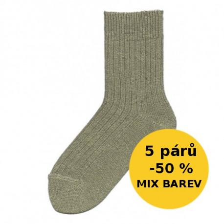 VLNĚNÉ PONOŽKY - VÝHODNÉ BALENÍ 5 PÁRŮ | Economic - SILNÉ VLNĚNÉ - VÝHODNÉ BALENÍ 5 PÁRŮ | Economic - Výhodné balení 5 párů teplých vlněných ponožek se slevou 50 %! Vlněné klasické ponožky s volným lemem. V balíčku dodáme mix barev dle aktuálních skladových zásob. V nabídce v mixu barev jemného melíru dle aktuálních skladových zásob.