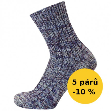 PRACOVNÍ - VÝHODNÉ BALENI 5 PÁRŮ - PRACOVNÍ - VÝHODNÉ BALENÍ 5 PÁRŮ | Economic - Výhodné balení 5 párů se slevou 10 %! Silné žebrové vlněné ponožky, s příjemným nesvíravým lemem. Oblíbené jako pracovní ponožky. Ponožky jsou jemně melírované.