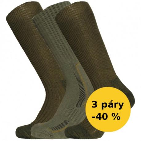 PRO RYBÁŘE - Výhodný balíček 3 páry -40 % - PRO RYBÁŘE - Výhodný balíček | Outdoor - Výhodné balení 3 párů vybraných outdoorových ponožek pro rybáře se slevou 40 %! Tento speciální balíček pro rybáře z kolekce KNITVA Fish and Hunt obsahuje 3 druhy ponožek. Nejoblíbenější outdoorové ponožky Extrémní zátěž s vynikajícím odvodem vlhka a potu, vlněné ponožky Klasik TERMO a ponožky Komfort s česanou vnitřní stranou pro dokonalé pohodlí. Potěšte rybáře a dopřejte jim teplo od nohou!