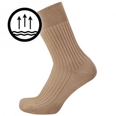 c45d57aa39c Žebrové ponožky s nesvíravým lemem. Česaná bavlna je velmi měkká a příjemná  na nošení. Ve špičce je velmi plochý šev