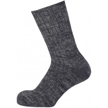 Šedý melír - GALIM | Economic - Vlněné ponožky s žebrem jsou upraveny valchováním a díky tomu jsou velmi silné a teplé. Ponožky jsou vhodné do holínek a pevné obuvi. Ponožky jsou lehce šedočerně melírované.