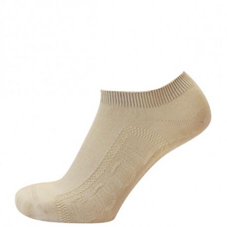 Světle béžová - DANUTA COOL AB - 2. jakost - Antibakteriální ponožky v délce ke kotníkům s chladivou úpravou Cool efekt. Funkční úpravy jsou vyvinuté na bázinano částic stříbra a přírodních extraktů. Díky svému propracovanému designu a kombinaci kvalitní bavlny s Lycrou ponožky drží na nohou a neshrnují se. Výrobky 2. jakosti mají pouze pohledové vady.