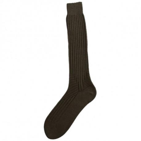 khaki - KOMFORT TERMO | Outdoor - Vlněné termo ponožky s 60% podílem vlny Superwash. Prodloužené lýtko s lemem. DesignKNITVA COMFORT ZONEje tvořen pružnou vazbou v oblasti nártu a zvýšené paty a zaručuje tak dokonalé pohodlí při nošení.