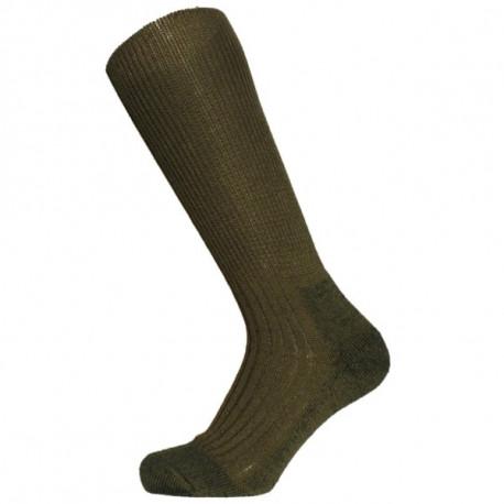 khaki - KLASIK TERMO | Outdoor - Teplévlněnétermo ponožky s froté zónami v chodidle, které způsobují vysoký termoizolační efekt. Vyvinuté z originálních vzorů pro Armádu ČR. Ponožky jsou ideální pro celoroční nošení. Skvělé pro ponožky do přírody, na kempování a pro outdoorové sporty. Doporučené do vysoké obuvi, včetně rybářských holin.