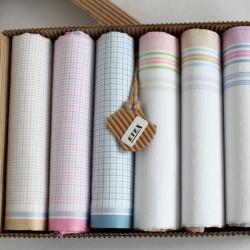 Dámské bavlněné kapesníky - výhodná sada 6 kusů