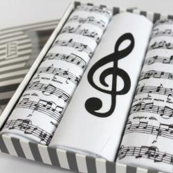 Dámské kapesníky s notami - sada 3 kusů