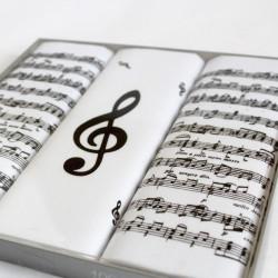 Pánské kapesníky s notami - sada 3 kusů