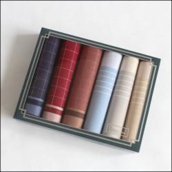 Výhodný set pánských kapesníků - 6 ks, tmavá kombinace