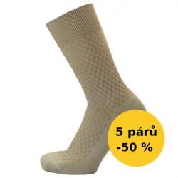 SPOLEČENSKÉ ponožky - VÝHODNÉ BALENÍ 5 PÁRŮ