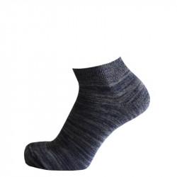 Kotníčkové ponožky melír tmavě fialový | Sport