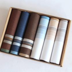 Pánské bavlněné kapesníky - výhodná sada 6 kusů
