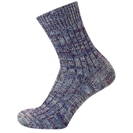 Modrý melír - KAMIL | Economic - Silné žebrové vlněné ponožky, s příjemným nesvíravým lemem, jsou vhodné na běžné nošení. Jsou oblíbené i jako pracovní ponožky. Ponožky jsou jemně melírované.